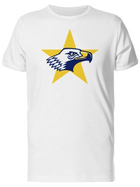 Eagle On Yellow Star Background Tee Men's -Image by Shutterstock