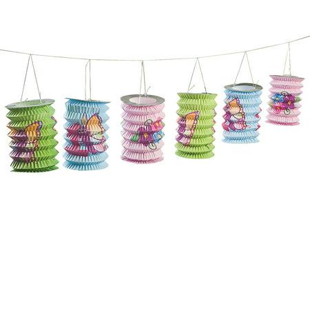 Fun Express - 1st Butterfly Lantern Garland for Birthday - Party Decor - Hanging Decor - Lanterns - Birthday - 1 Piece](Butterfly Party Decor)