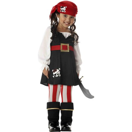 Precious Lil' Pirate Child Halloween Costume - Pirate Costume Makeup