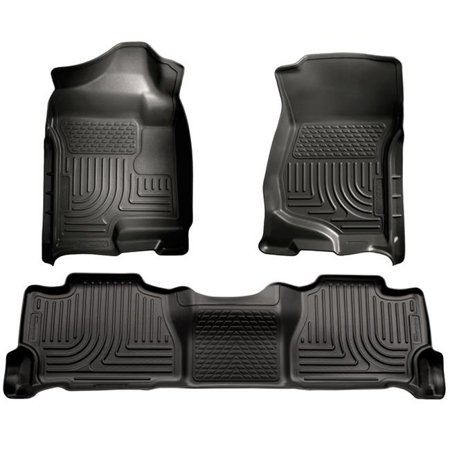 Weatherbeater Series Thermoplastic Olefin Black Front & 2Nd Seat Floor Liners