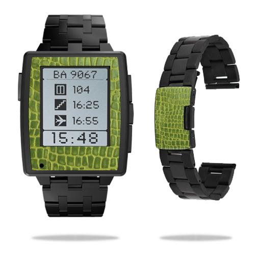 Skin Decal Wrap for Pebble Steel Smart Watch sticker Croc Skin