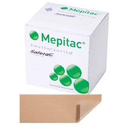 Medical Tape Mepitac® Skin Friendly Silicone 1-1/2 X 59 Inch Tan NonSterile Skin Protection Tape