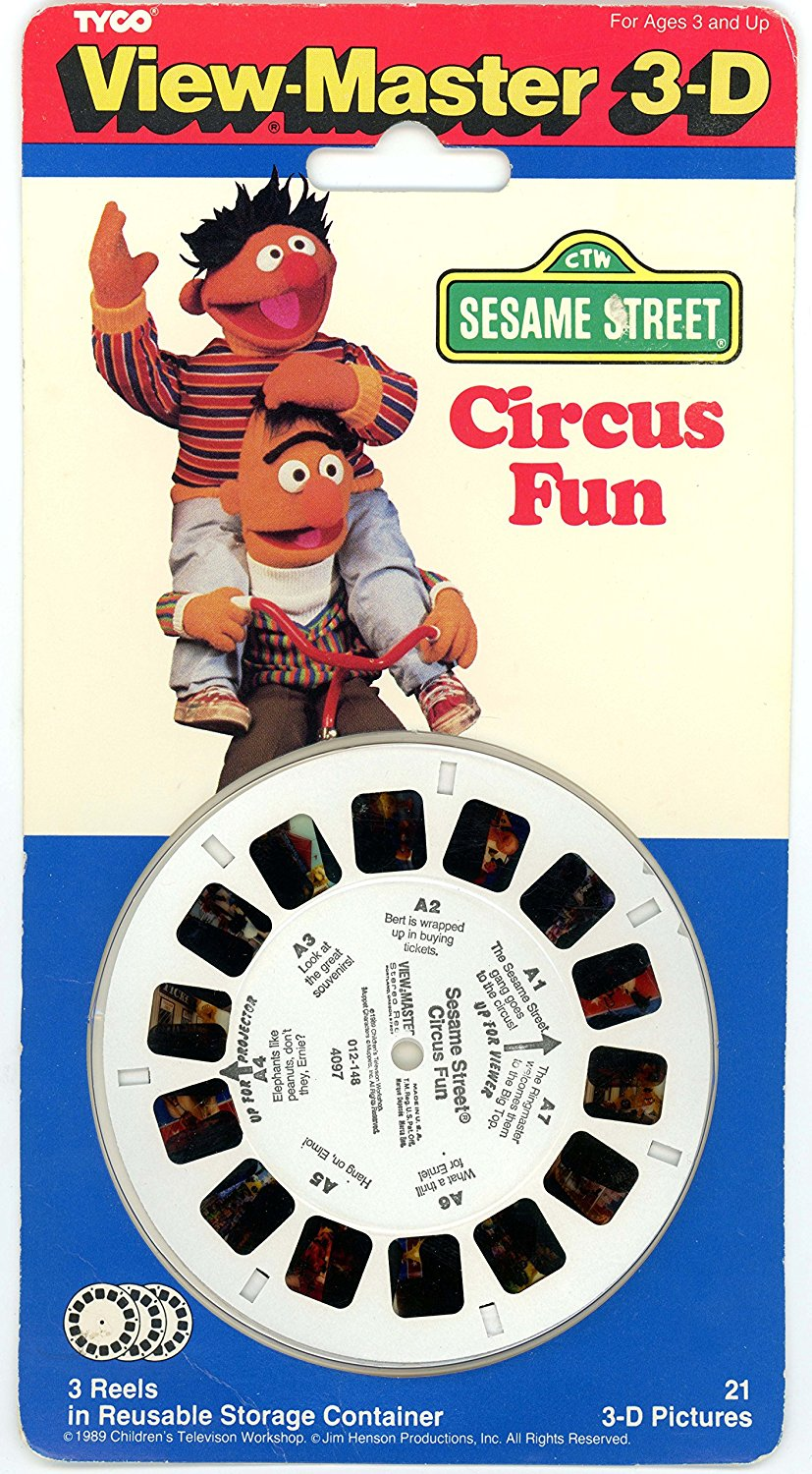 View-Master Classic 3Reel Set Sesame Street Circus Fun By View Master by