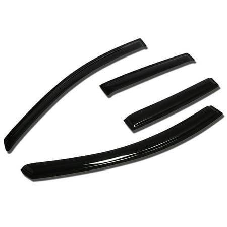 For 07-14 Nissan Versa 4pcs Window Vent Visor Deflector Rain Guard (Dark Smoke) 08 09 10 11 12