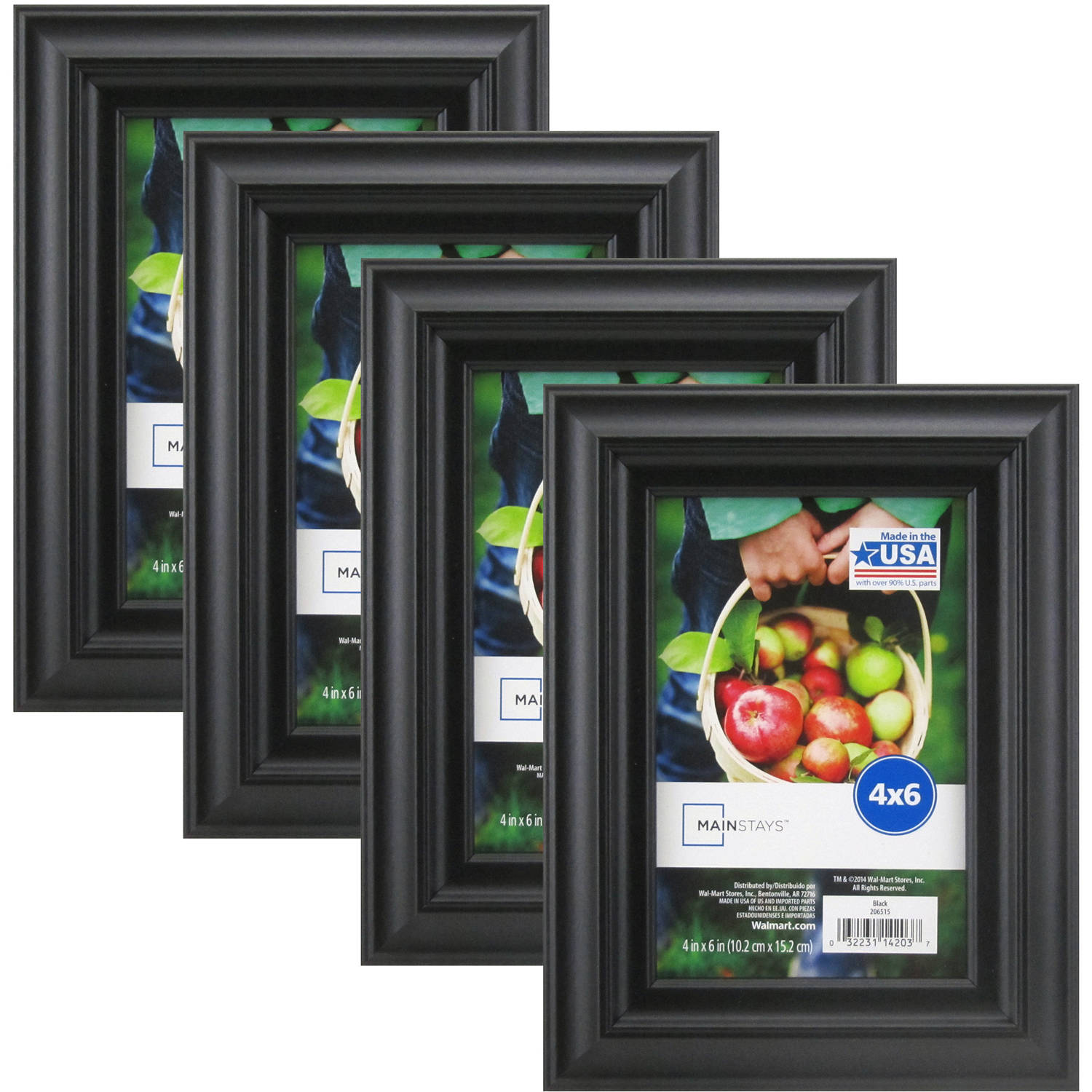 Mainstays Black Frame, Set of 4 - Multiple Sizes available