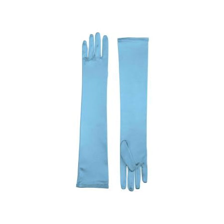 LONG SATIN DRESS GLOVES-LT.BLU](Long Blue Satin Gloves)