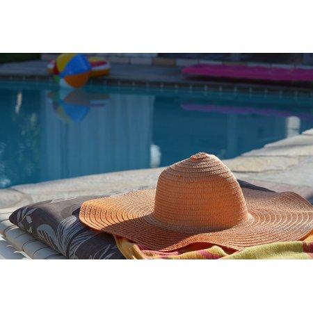 Framed Art For Your Wall Resort Hat Sun Hat Swimming Pool Sun 10x13 Frame -  Walmart.com d76c5f8cf7b