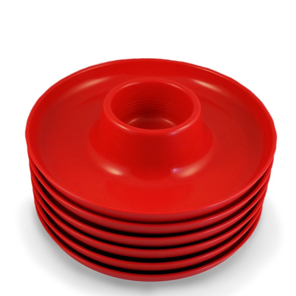 The Great Plate Reusable Food & Beverage Holder - Red
