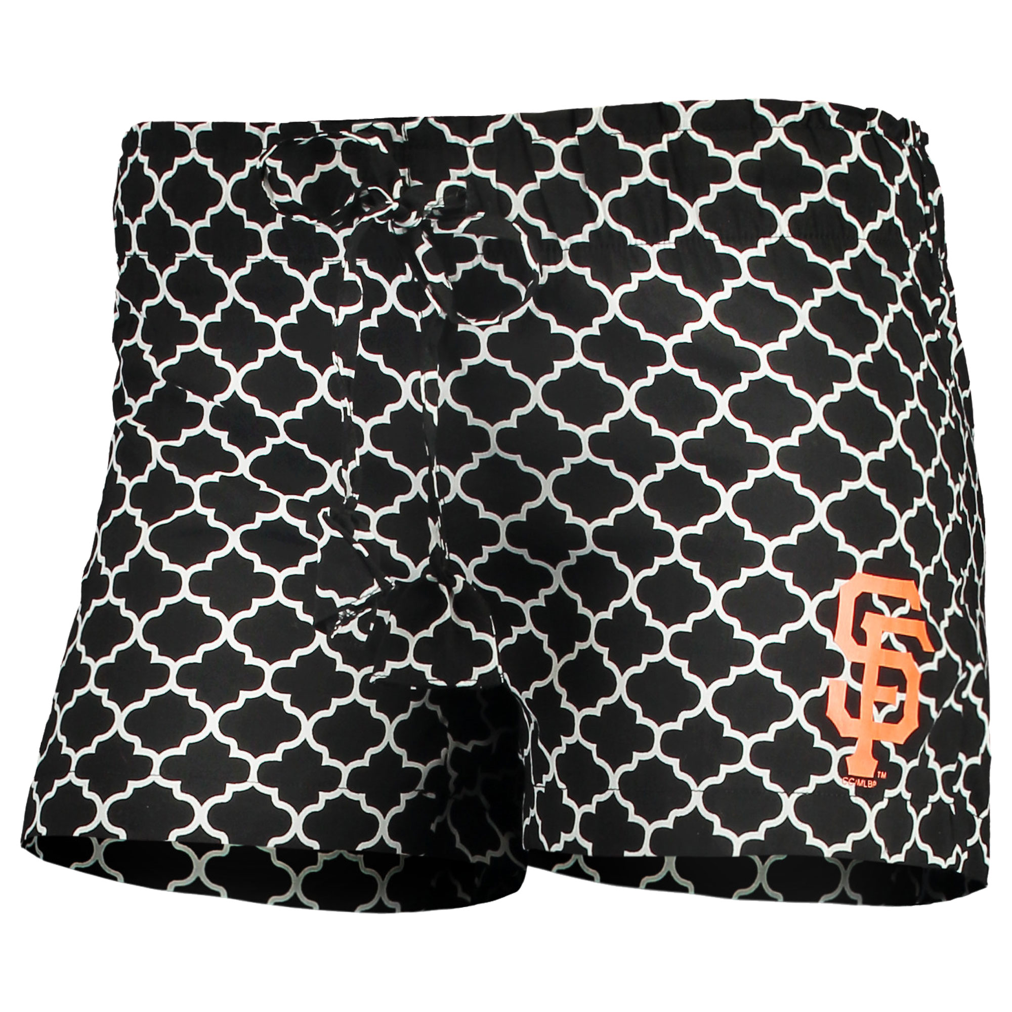 San Francisco Giants Concepts Sport Women's Slumber Sleep Shorts - Black/White