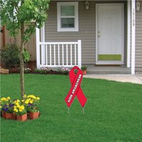 Aids Awareness Yard Sign with Stakes