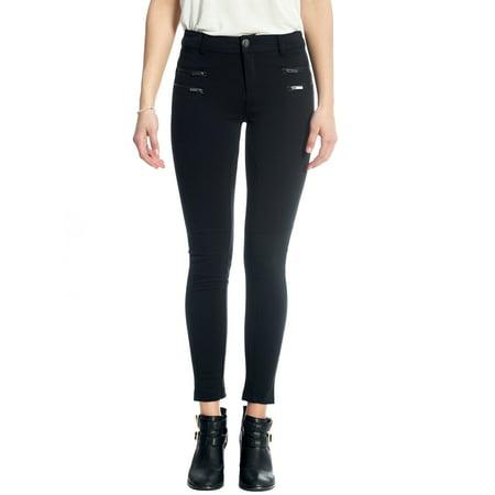 1216d89890a2b Women's Slim Fit Ponte Pant Leggings, Skinny Pant, with Back Pocket Belt  Loop and