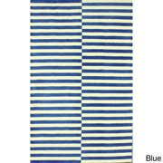 nuLOOM Hand-tufted Modern Stripes New Zealand Wool Rug (7'6 x 9'6) Blue