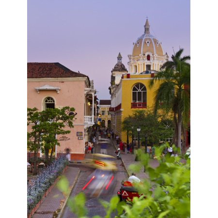 Colombia, Bolivar, Cartagena De Indias, Plaza Santa Teresa, Horse Cart and San Pedro Claver Church Print Wall Art By Jane (Used Panel Saw For Sale In India)