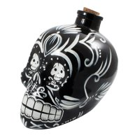 Barbuzzo Day of the Dead Sugar Skull Decanter, Whiskey Wine Liquor Tequila 700ml