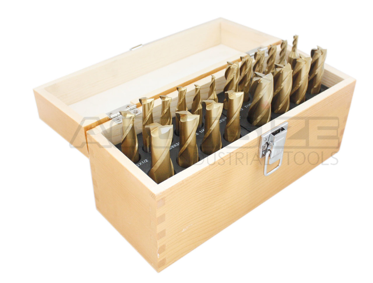 """10 PC HSS 4 Flute 3//16-3//4/"""" Tin Coated END MILL Set"""