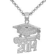 Dazzlers Sterling Silver 2014 Graduation Necklace