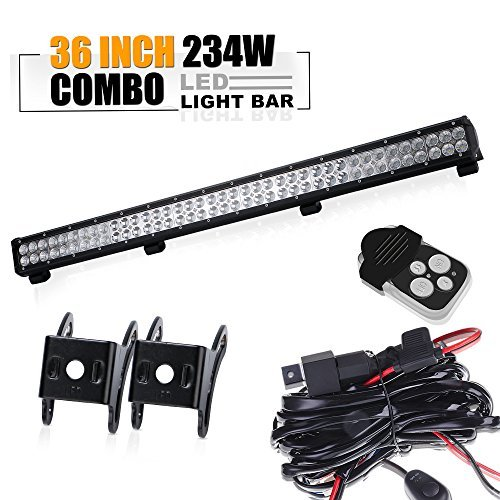 36inch 234W LED WORK LIGHT BAR FLOOD/&SPOT COMBO OFFROAD Car Boat Truck Lamp Set