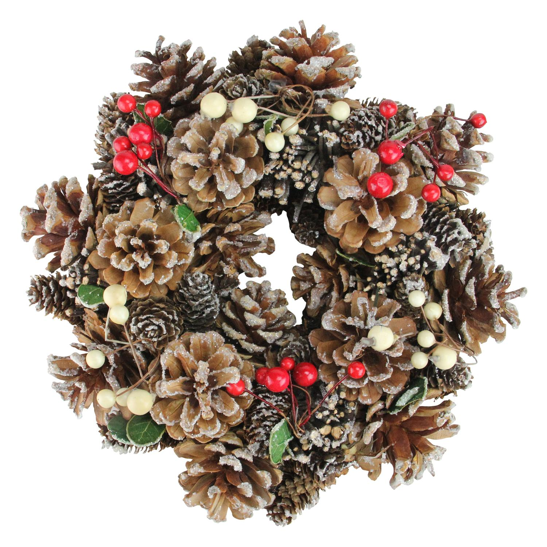 "10.25"" Pine Cones and Berries X-mas Wreath"