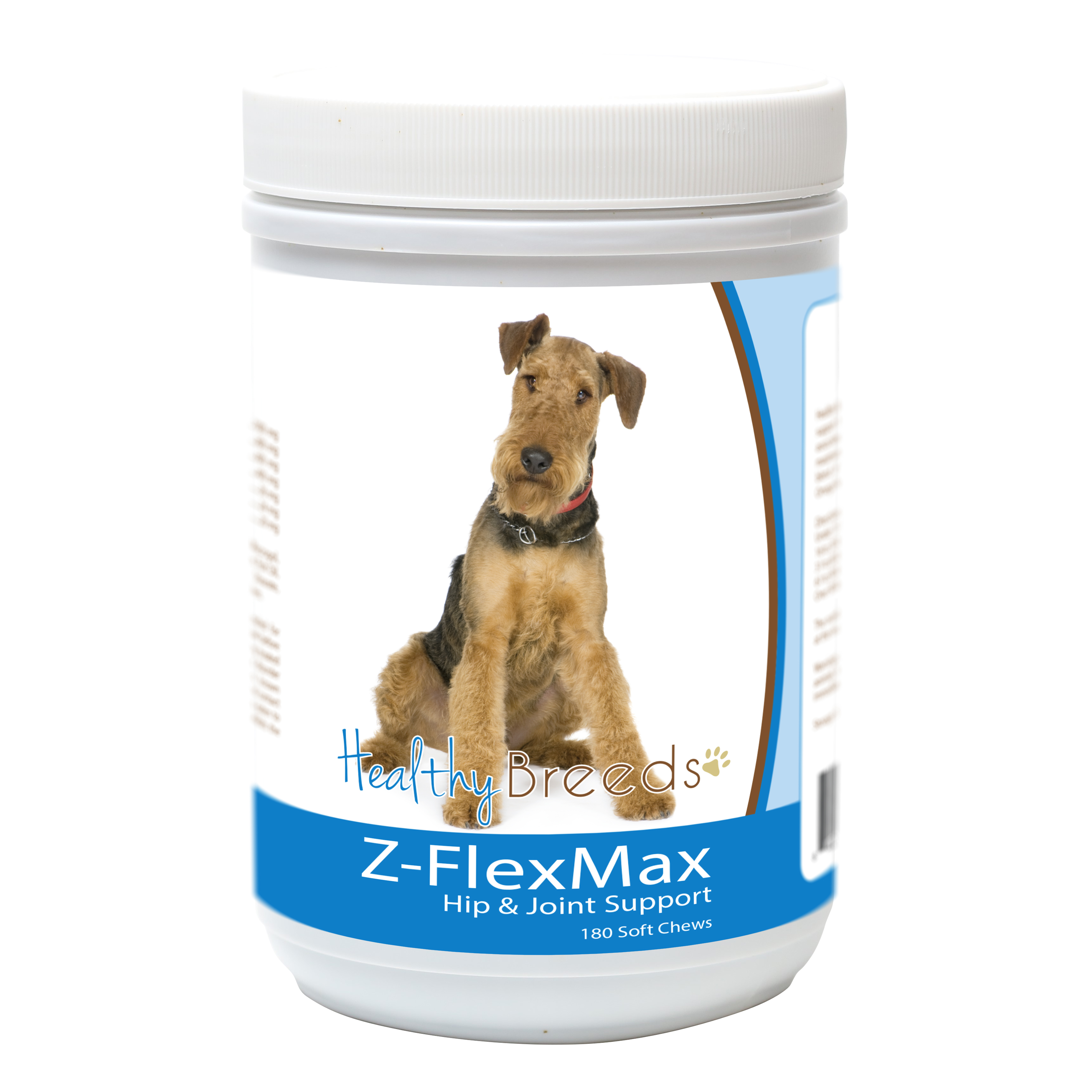 Healthy Breeds Airedale Terrier Z-Flex Max Dog Hip and Joint Support 180 Count