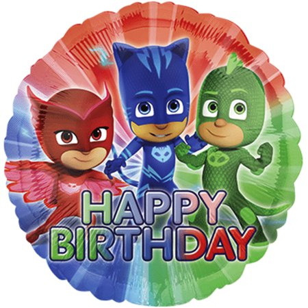 PJ Masks Happy Birthday Authentic licensed Theme Foil / Mylar Balloons 18