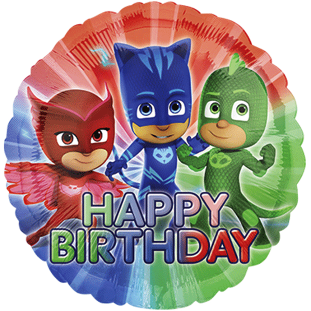 "PJ Masks Happy Birthday Authentic licensed Theme Foil / Mylar Balloons 18"" ( each )"