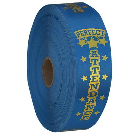 Attendance Award Seal - Premium Ribbon Rolls - Perfect Attendance School Award Ribbons