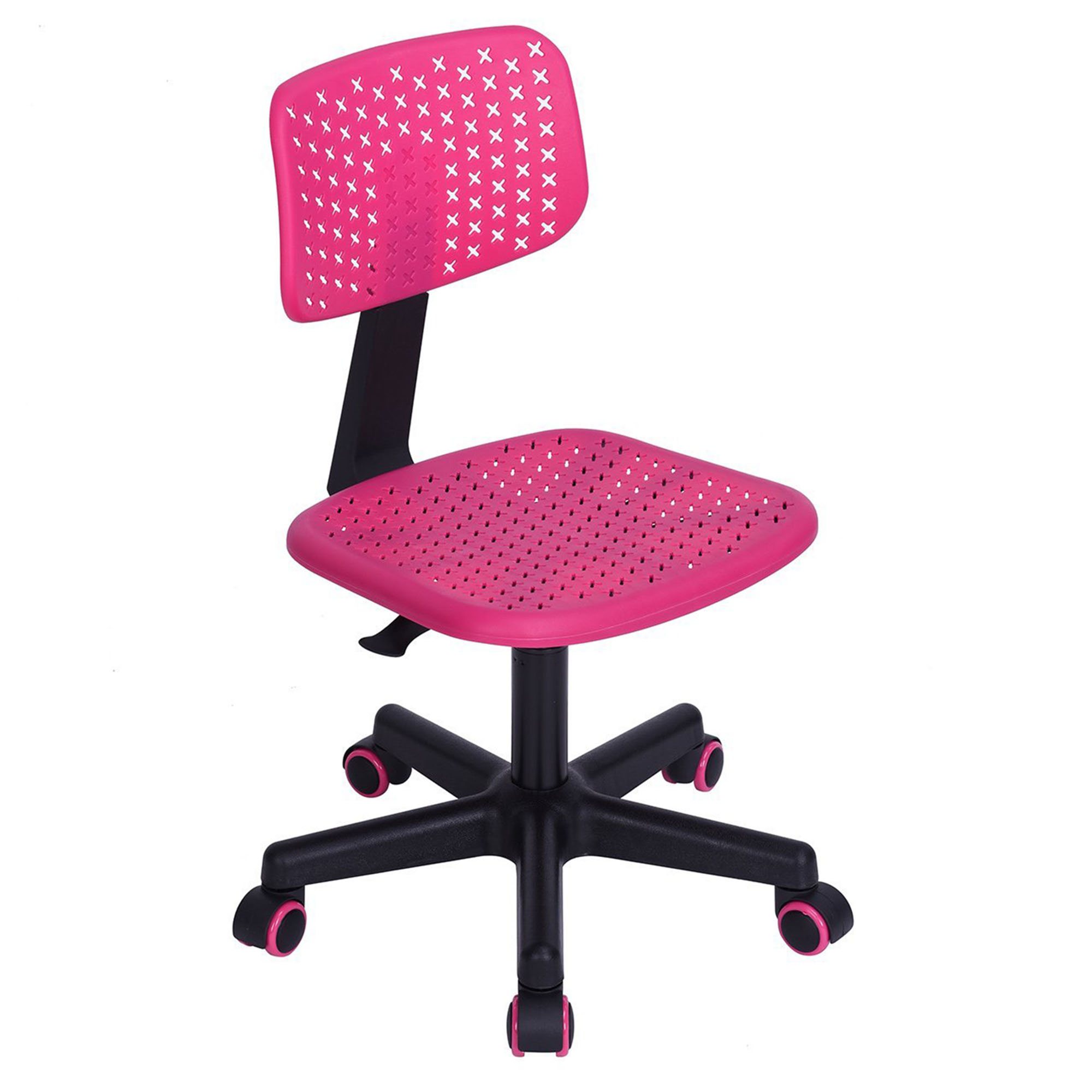 Homycasa Low Back Design Adjustable Kids Computer Seat Office Task Chair  Swivel Armless Children Study