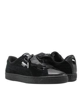 9a37c8084253 Product Image Puma Basket Heart Bubble Black-Black Women s Sneakers 36644101