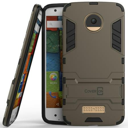 CoverON Motorola Moto Z Droid Edition Case, Shadow Armor Series Hybrid Kickstand Phone Cover