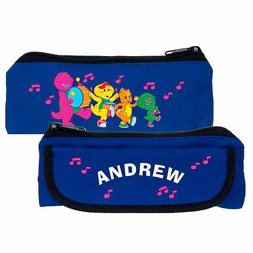 Personalized Barney & Friends Band Blue Pencil Case