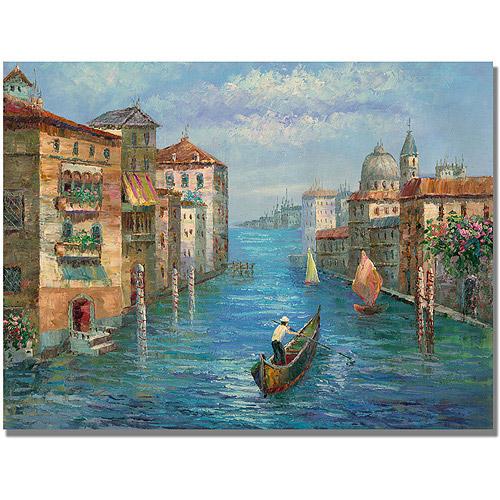 "Trademark Fine Art ""Solitary Gondolier"" Canvas Art"