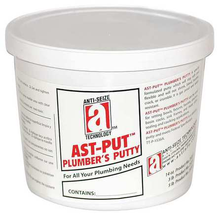 AST-PUT 25205 Plumber's Putty, 5 lb., Tan