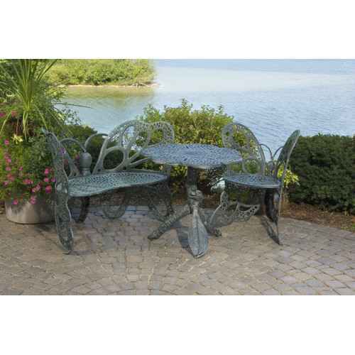 Butterfly 3 Piece Bench Seating Group Set