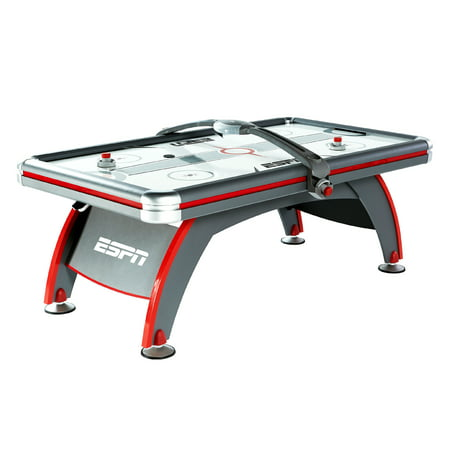 ESPN 84'' Fast-Line Air Powered Hockey Table with 4 pushers and 4 pucks, Gray ()