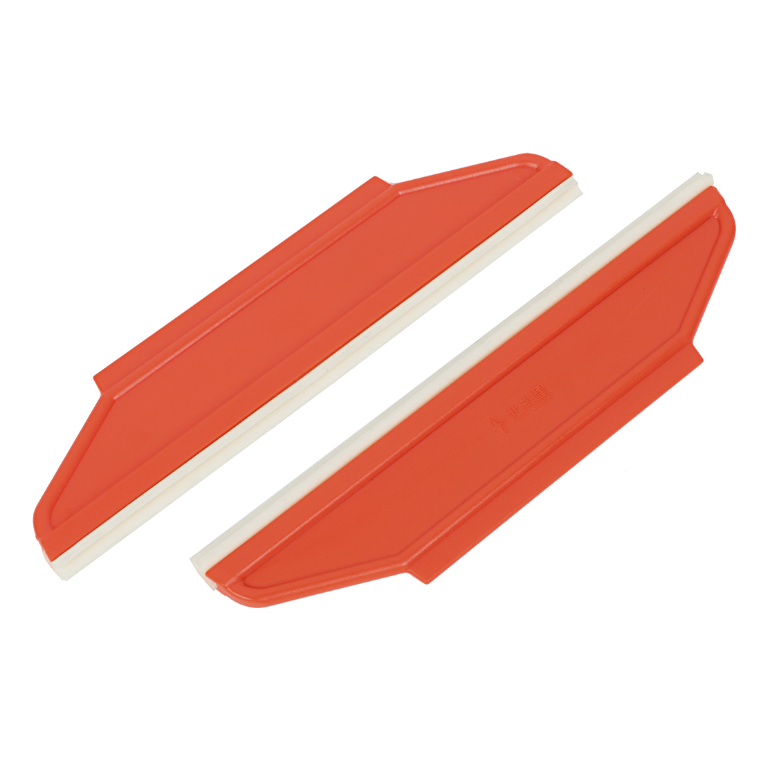 """Unique Bargains 2 Pcs 8.5"""" Length Car Window Film Wrap Installation Cleaning Scraper Tool Orange"""