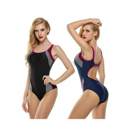 One Piece Swimsuit  For Women Backless Splicing Swimwear Monokinis Bathing Suit Beach wear DIRESOP](Panda Suit For Sale)