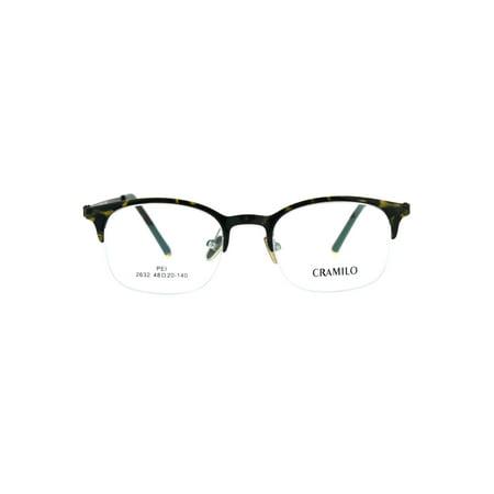 Ray Ban Tortoise Frame - Optical Quality Narrow Half Horn Rim Rectangular Eyeglasses Frame Tortoise