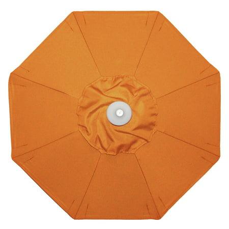 Deluxe Auto Tilt Umbrella (Galtech 9-ft. Sunbrella Aluminum Deluxe Auto Tilt with Crank Lift Patio Umbrella )