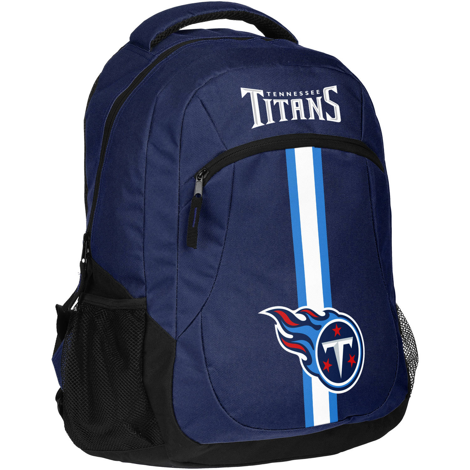 Forever Collectibles NFL Tennessee Titans Action Stripe Logo Backpack