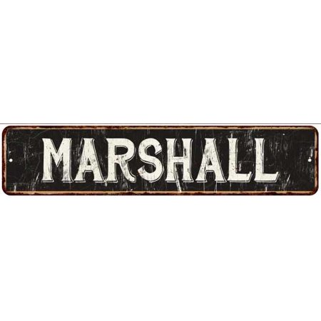 MARSHALL Street Sign Rustic Chic Sign Home man cave Decor Gift Black G41804139 for $<!---->