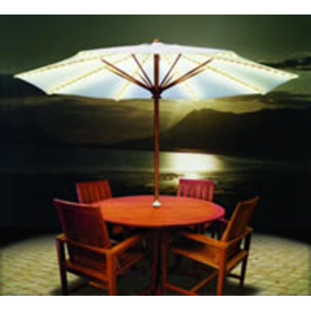 Brella Lights Outdoor Patio Lighting System For 6 Rib Umbrellas White Wal