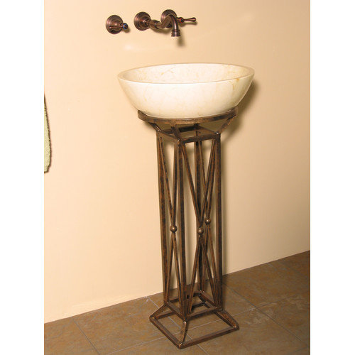 Quiescence Leviathan Iron Pedestal Bathroom Sink