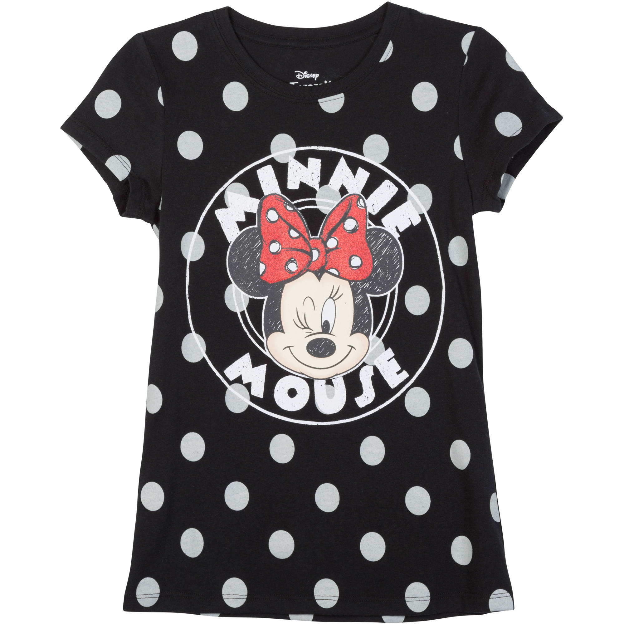 "Girls Short Sleeve Tee ""Circle Minnie"""