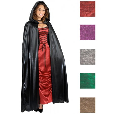 Unisex Hooded Cape Adult Costume Accessory Green](Halloween Red Hooded Capes)
