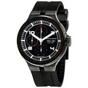 Flat Six Chronograph Automatic Black Dial Black Rubber Mens Watch 636043441254