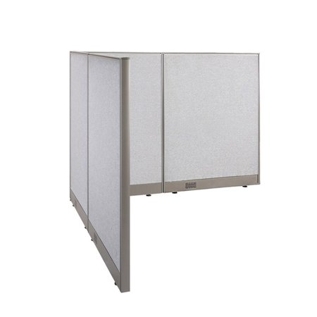 GOF L-Shaped Freestanding Office Panel Cubicle Wall Divider Partition 66D x 72W x 48H / Office, Room - Christmas Decor For Office Cubicle