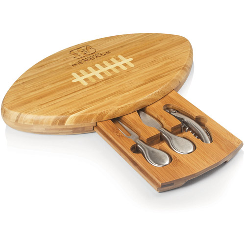 NFL Cutting Board and Tool Set by Picnic Time, Quarterback - Cincinnati Bengals