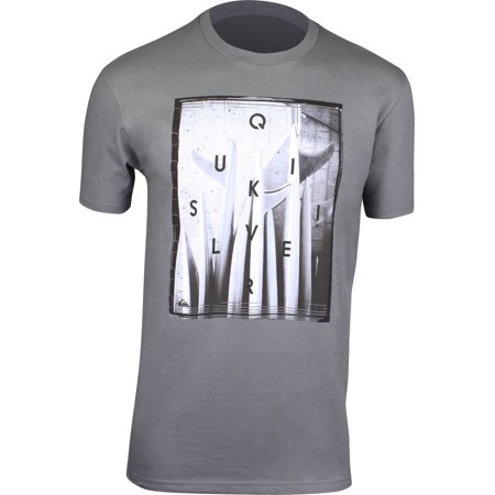 Quiksilver Mens Quiver Central T-Shirt - Quiet Shade Gray