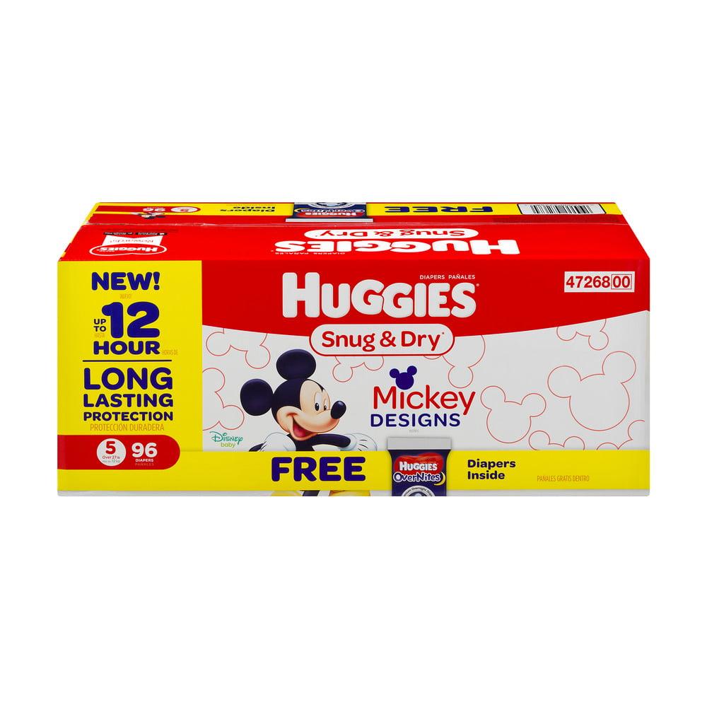 HUGGIES Snug & Dry Diapers, Size 5, 96 Diapers
