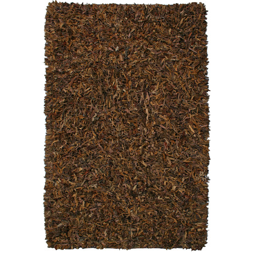 St. Croix Pelle Leather Brown Area Rug